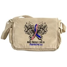 Butterfly Male Breast Cancer Messenger Bag