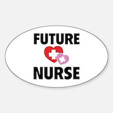 Future Nurse Sticker (Oval)