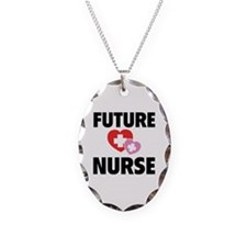 Future Nurse Necklace Oval Charm