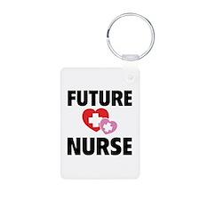 Future Nurse Aluminum Photo Keychain