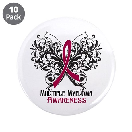 """Butterfly Multiple Myeloma 3.5"""" Button (10 pack)"""