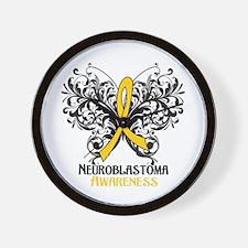 Butterfly Neuroblastoma Wall Clock