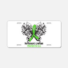 Butterfly Non-Hodgkins Aluminum License Plate