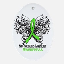 Butterfly Non-Hodgkins Ornament (Oval)