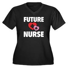 Future Nurse Women's Plus Size V-Neck Dark T-Shirt