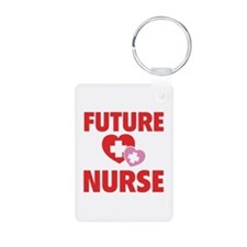 Future Nurse Aluminum Photo Keychain