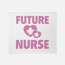 Future Nurse Throw Blanket