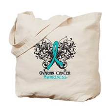 Butterfly Ovarian Cancer Tote Bag
