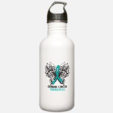 Butterfly Ovarian Cancer Water Bottle