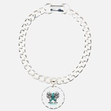 Butterfly Ovarian Cancer Bracelet