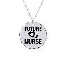 Future Nurse Necklace Circle Charm