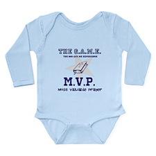 The G.A.M.E - MVP blue Long Sleeve Infant Bodysuit