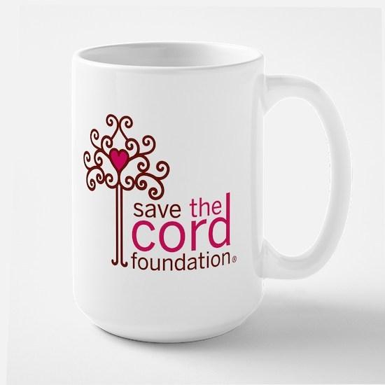 Save the Cord Foundation Logo Large Mug
