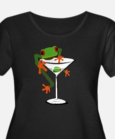 Frog and Martini Plus Size T-Shirt