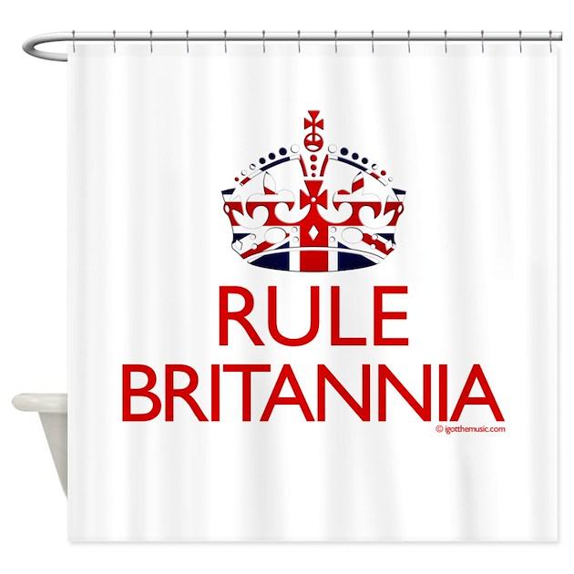 Rule Britannia Shower Curtain By Igotthemusic