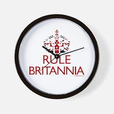 Rule Britannia Wall Clock