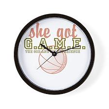 she got G.A.M.E. Wall Clock