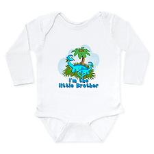 Cute Baby boy little brother dinosaur Long Sleeve Infant Bodysuit