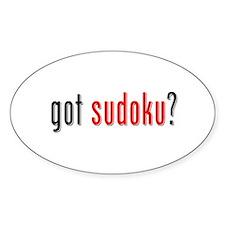 Got Sudoku? Oval Decal
