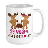 29th anniversary moose Large Mugs (15 oz)