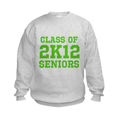 2K12 (Green Text) Kids Sweatshirt
