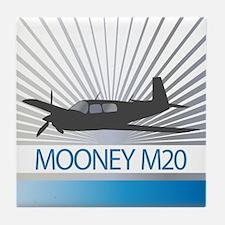 Aircraft Mooney M20 Tile Coaster
