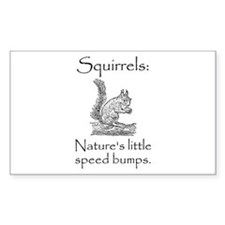 Squirrel Speed Bump Decal