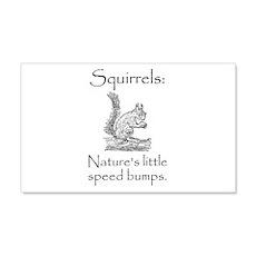 Squirrel Speed Bump 22x14 Wall Peel