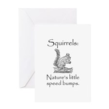 Squirrel Speed Bump Greeting Card