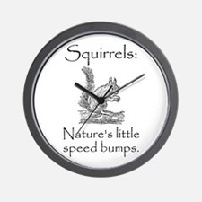Squirrel Speed Bump Wall Clock
