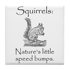 Squirrel Speed Bump Tile Coaster