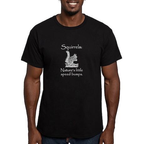 Squirrel Speed Bump Men's Fitted T-Shirt (dark)