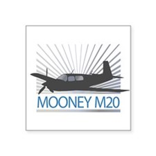 "Aircraft Mooney M20 Square Sticker 3"" x 3"""