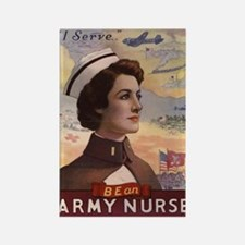 WWI US Army Nurse Rectangle Magnet