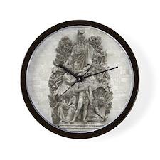 Arc de Triomphe carving Wall Clock