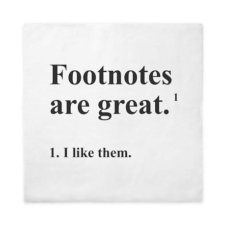 Footnotes Queen Duvet