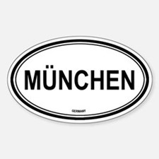 München, Germany euro Oval Decal