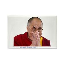 Dalai Lama - Make Bliss Happen - Rectangle Magnet