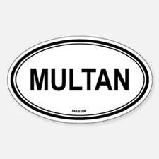 Multan, Pakistan euro Oval Decal