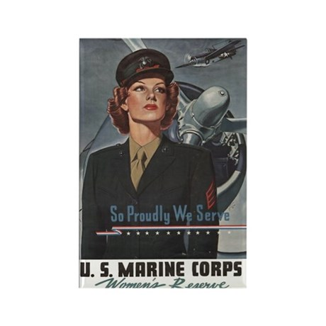 WWII USMC Women Recruiting Poster Rectangle Magnet