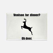 Venison Deer Pun Rectangle Magnet (10 pack)