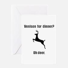Venison Deer Pun Greeting Card