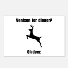 Venison Deer Pun Postcards (Package of 8)