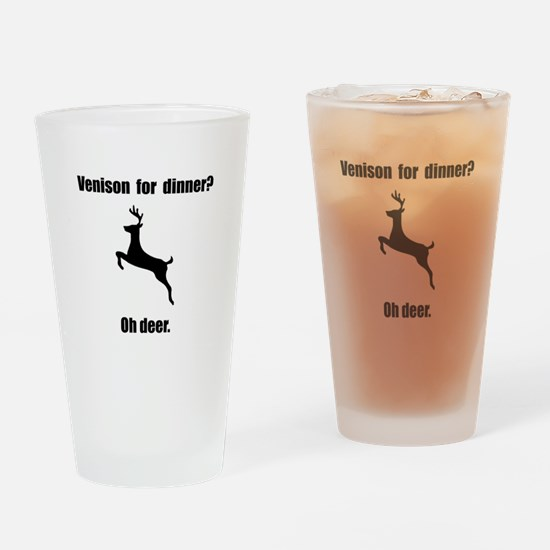 Venison Deer Pun Drinking Glass