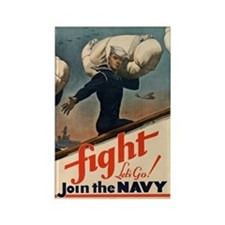 WWII US Navy Recruiting Poster Rectangle Magnet