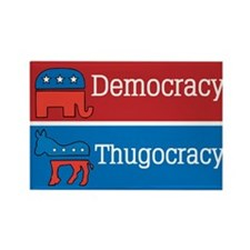 Thugocracy (map) Rectangle Magnet