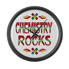 Chemistry Rocks Large Wall Clock