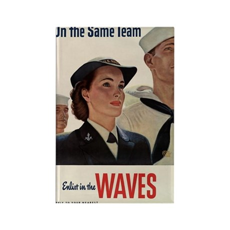 US Navy WAVES Recruiting Poster Rectangle Magnet