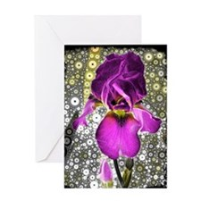 """Grape Iris"" Greeting Card"