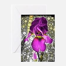"""""""Grape Iris"""" Greeting Card"""